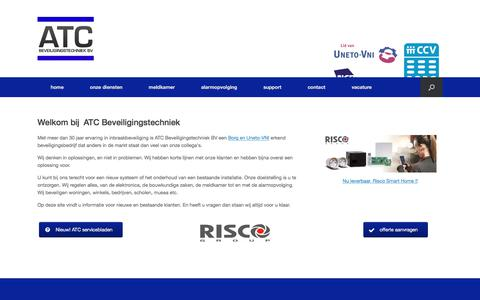 Screenshot of Home Page atcbeveiliging.nl - home - ATC Beveiligingstechniek bv - captured Oct. 7, 2017