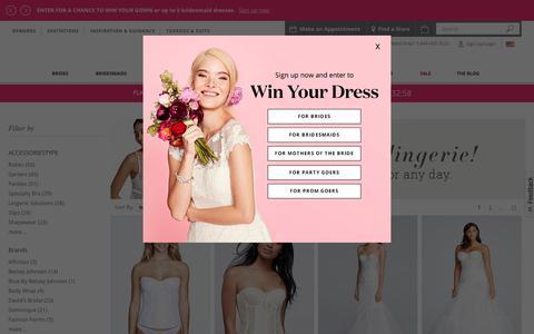 Women's Lingerie and Underwear | David's Bridal