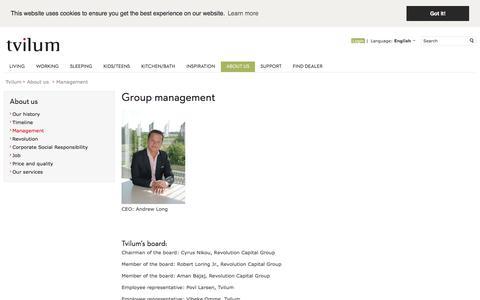 Screenshot of Team Page tvilum.com - Group management - captured Oct. 25, 2017