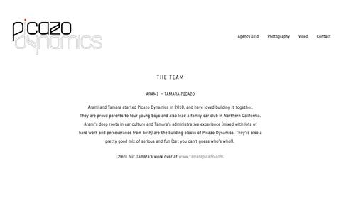Screenshot of Team Page picazodynamics.com - The Team — Picazo Dynamics - captured July 18, 2018
