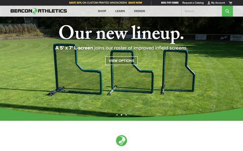 Screenshot of Home Page beaconathletics.com - Beacon Athletics | The Ultimate Ballfield Resource - captured Jan. 18, 2020