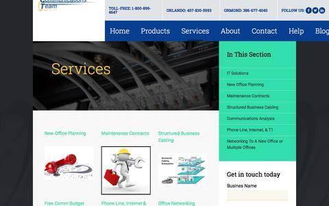 Screenshot of Services Page aboutact.com - Offering a Wide Array of Professional Services - captured Oct. 9, 2017