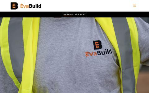 Screenshot of About Page evabuild.co.uk - About us   Evabuild - captured Sept. 29, 2018