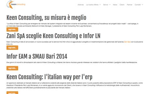 Screenshot of Press Page keenconsulting.it - News - captured Oct. 6, 2014