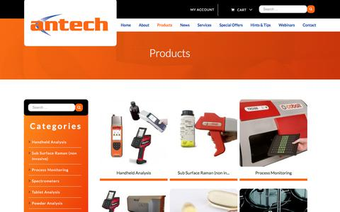 Screenshot of Products Page antech.ie - Chromatography Products | Antech Solutions | Antech - captured Oct. 8, 2017