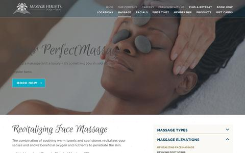 Revitalizing Face Massage | Massage Therapy | Massage Heights