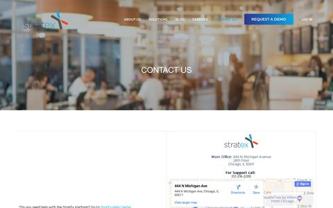 Screenshot of Contact Page stratex.com - Contact Us — StratEx HR for Restaurants - captured April 14, 2018