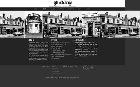 Screenshot of About Page gfholding.co.uk - About - captured Oct. 1, 2014