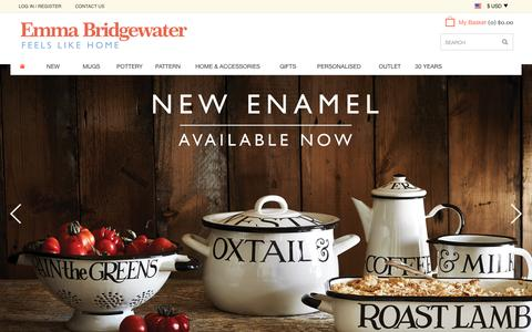 Screenshot of Home Page emmabridgewater.co.uk - Home at Emma Bridgewater - captured Oct. 1, 2015