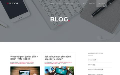 Screenshot of Blog galandr.com - BLOG | GALANDR.com - captured Feb. 17, 2018