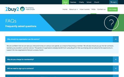 Screenshot of FAQ Page 2buy2.com - 2buy2 | FAQs - captured Nov. 5, 2017