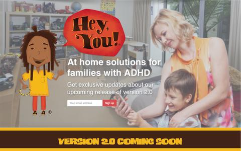 Screenshot of Home Page heyyouadhd.com - Home - Hey, You! ADHD - captured Oct. 2, 2014