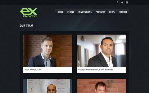 Screenshot of Team Page enovexcorp.com - Enovex - captured Sept. 11, 2014