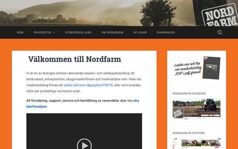 Screenshot of Home Page nordfarm.se captured Nov. 2, 2017