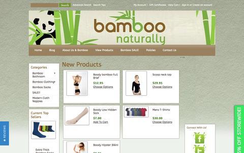 Screenshot of Home Page bamboonaturally.com.au - Bamboo Naturally - captured Sept. 30, 2014