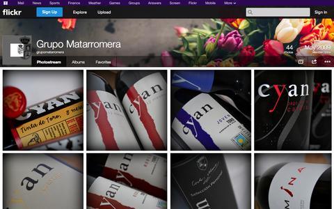 Screenshot of Flickr Page flickr.com - Flickr: grupomatarromera's Photostream - captured Oct. 23, 2014