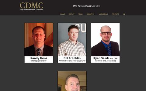Screenshot of Team Page cdmc.info - Randy Uens| CDMC Team - captured Oct. 25, 2016