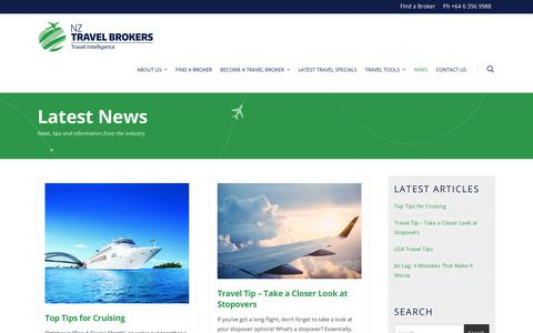 Screenshot of Press Page nztravelbrokers.co.nz - Travel News | NZ Travel Brokers - captured Sept. 21, 2018