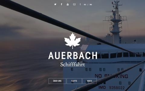 Screenshot of Home Page auerbach-schifffahrt.de - AUERBACH Schifffahrt, Hamburg, Germany - captured Sept. 14, 2015