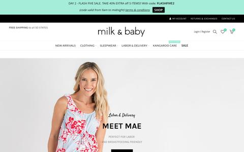 Milk & Baby | nursing wear, labor & delivery, kangaroo care, maternity