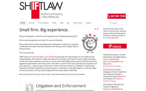 Home - Shift Law | IP Law Firm Toronto