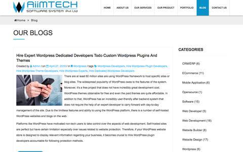 Screenshot of Blog aiimtech.com - Responsive Website,Mobile App development,CRM,ERP Software   AiimTech Blog - captured July 29, 2018