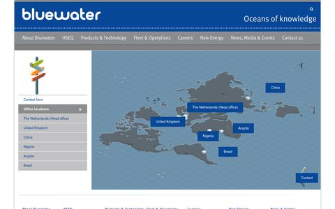 Screenshot of Locations Page bluewater.com - Office locations – Bluewater - captured Oct. 6, 2018