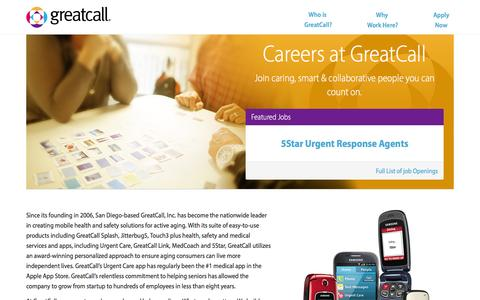 Jobs, Careers, Current Openings| GreatCall