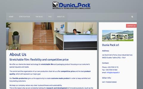 Screenshot of About Page duniapack.com - About Dunia Pack: competitive price and best product quality - captured Oct. 29, 2014