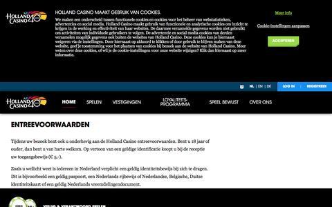 Entreevoorwaarden - Holland Casino
