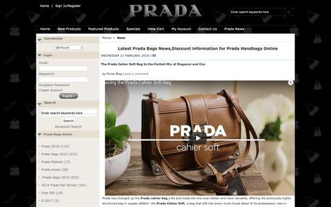 Screenshot of Press Page bagsfor2019.com - Latest Prada Bags News,Discount information for Prada Handbags Online - captured Nov. 1, 2018