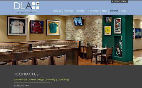 Screenshot of Contact Page dlaplus.com - Contact | DLA+ Architecture & Interior Design - captured Jan. 24, 2016