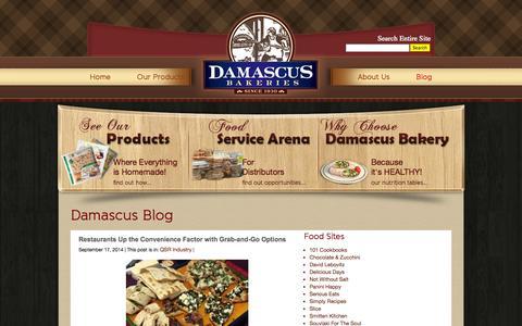Screenshot of Blog damascusbakery.com - Blog | Damascus Bakeries - captured Sept. 30, 2014