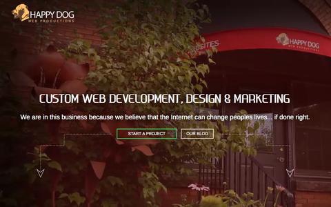 Screenshot of Home Page hdwebpros.com - Custom Web Development Services | Web Development Company | Happy Dog - captured Sept. 13, 2015