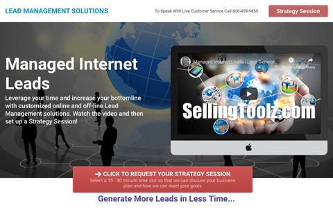 Screenshot of Home Page leads-management.com - Lead Management Solutions - captured Oct. 25, 2018