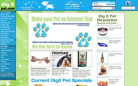 Screenshot of Home Page Site Map Page digitpet.com - Wire Dog Crate, Exercise Pens, Rawhide Bones, Chicken Dog Treats, Jerky, Pig Ears & Pee Training Pads - captured Oct. 29, 2014