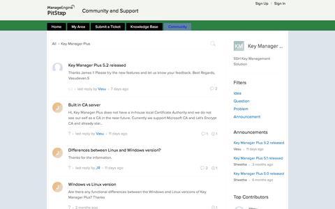 Community | Key Manager Plus