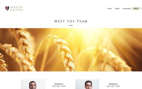 Screenshot of Team Page invictacapital.co.uk - ABOUT | INVESTMENT | INVICTA CAPITAL - captured Sept. 20, 2018