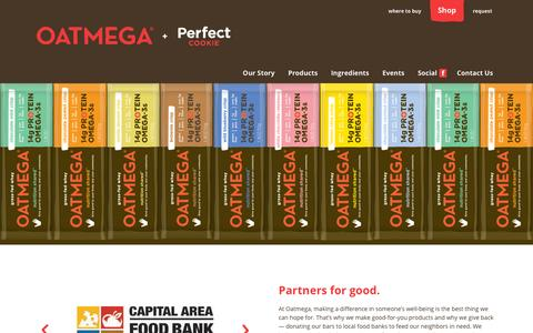 Screenshot of Home Page givebar.com - Oatmega - captured Dec. 12, 2015
