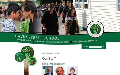 Screenshot of Team Page davidst.school.nz - Our Staff - captured March 6, 2018