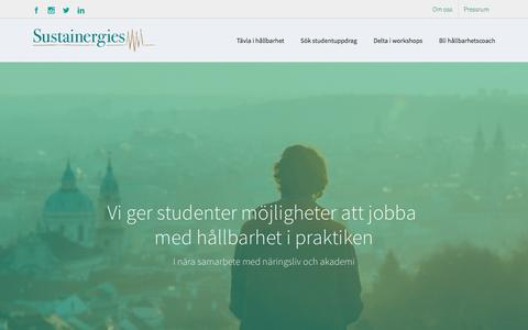 Screenshot of Home Page sustainergies.se - Start | Sustainergies - captured Dec. 17, 2016