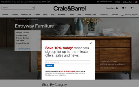 Entryway Furniture & Foyer Furniture   Crate and Barrel
