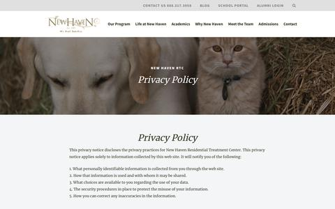 Privacy Policy | New Haven RTC