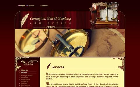 Screenshot of Services Page carrington.lv - Services - captured Oct. 2, 2014
