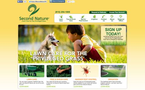 Screenshot of Home Page secondnature.net - Second Nature Lawn Care - captured Oct. 6, 2014