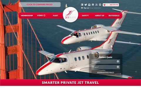Screenshot of Home Page jetsuite.com - JetSuite   Private Jet Charter Flights Đ Private Jet Rental Service - captured Jan. 19, 2016