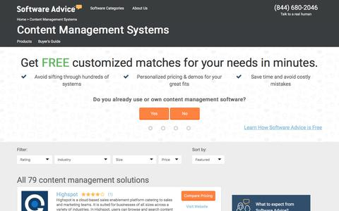 Best Content Management Systems - 2017 Reviews & Pricing