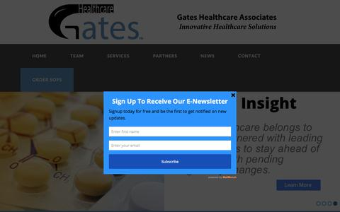 Screenshot of Home Page gateshealthcareassociates.com - Home - Gates Healthcare Associates - captured July 17, 2017