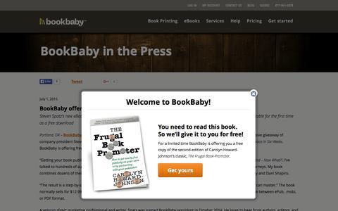 Screenshot of Press Page bookbaby.com - Press Release | BookBaby - captured Oct. 21, 2015