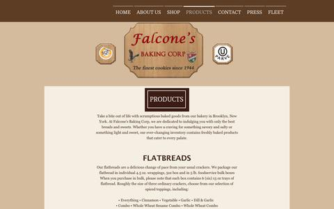 Screenshot of Products Page falconebaking.com - CONTACT US - Falcone's Baking Corp. - captured Oct. 13, 2017